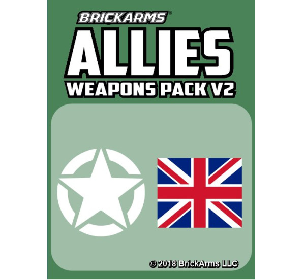 BrickArms Weapons Allies Pack V2 Fits Lego MInifigures $11.00