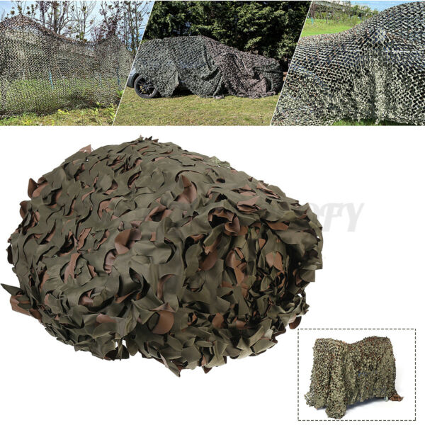 Camo Net Camouflage Netting Reversible Green Brown Army Shooting Camping Hunting