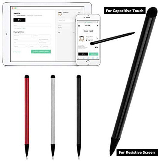 Touch Screen Pen Stylus Universal For iPhone iPad Samsung Tablet Phone PC 2 in 1 $1.99