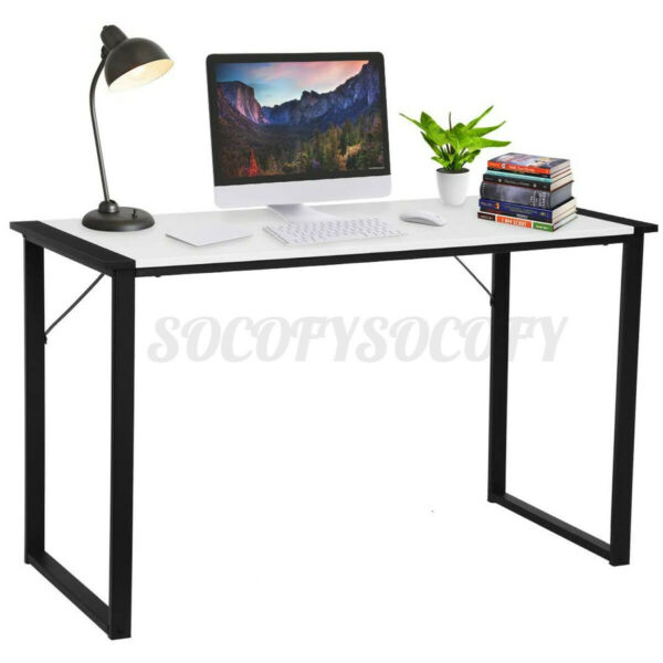 Large Wood Computer Desk PC Laptop Study Work Table Home Office Stable Furniture