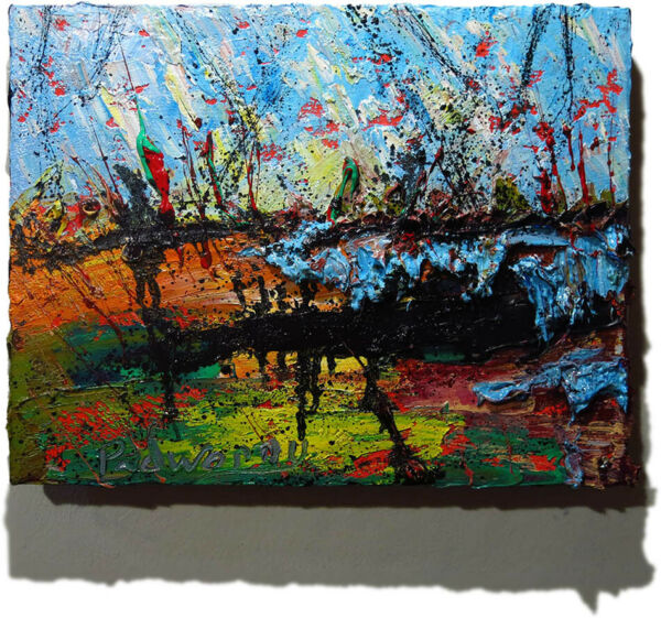 ORIGINAL OIL█PAINTING█VINTAGE█IMPRESSIONIST█ART REALISM SIGNED ABSTRACT A MODERN