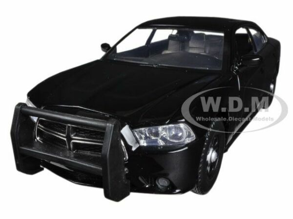 2011 DODGE CHARGER PURSUIT POLICE UNMARKED BLACK 1 24 DIECAST CAR MOTORMAX 76953