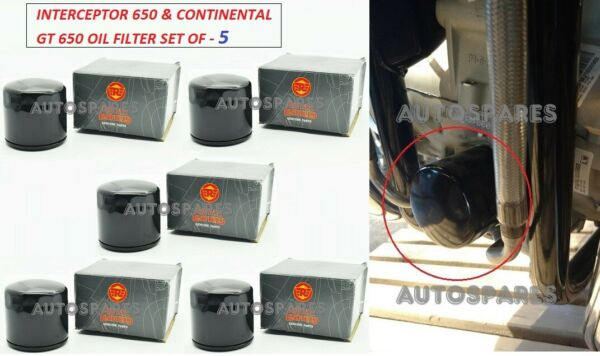 5X Royal Enfield Oil Filter Unit For Interceptor 650 amp; Continental GT 650 $49.99