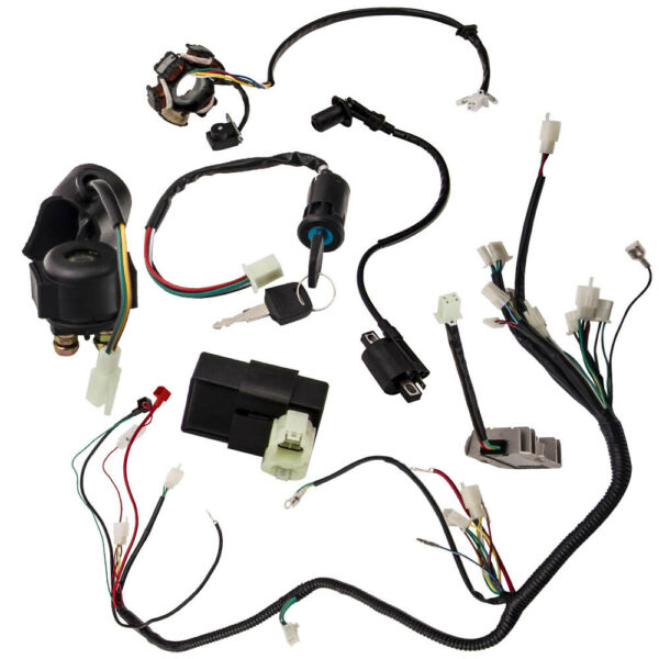 Wiring Harness Loom Kit For GY6 4 Stroke Engine 125cc 150cc ATV Bike Scooter New $32.96