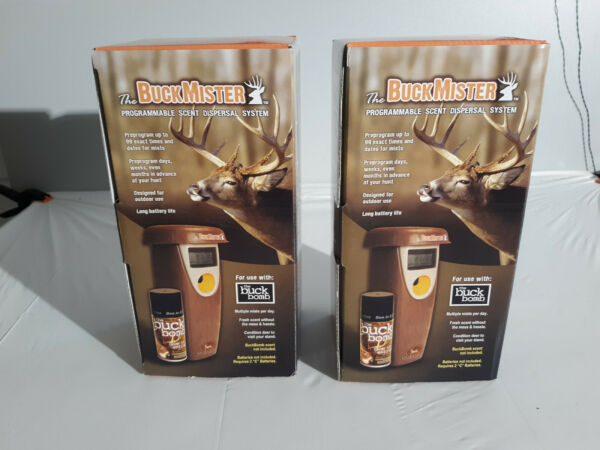 2 Count quot;the BuckMister Programmable Scent Dispersal Sys Deer Buck Hunting