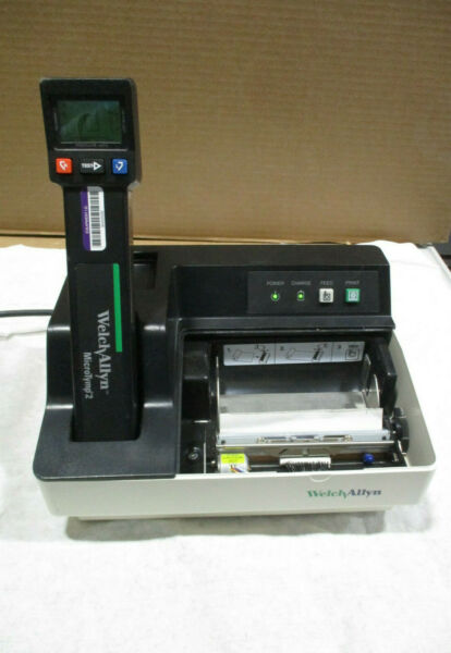 Welch Allyn MICROTYMP 2 Tympanometer w Printer Charger SOLD AS IS