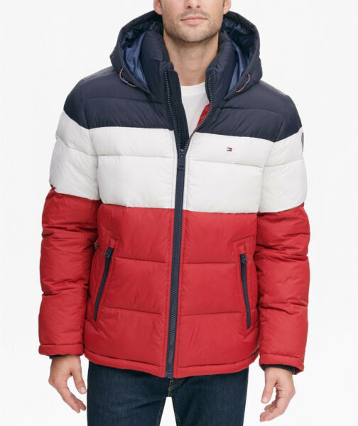 Tommy Hilfiger Men#x27;s Quilted Puffer Water Resistant Heavyweight Zipper Jacket $79.99