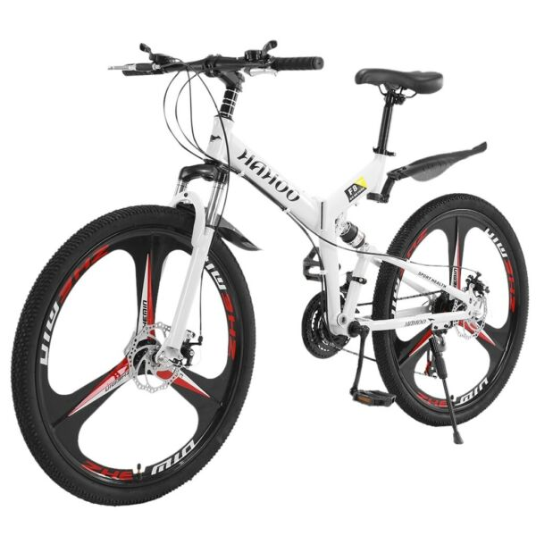 26 Inch Mountain Bike With 21 Speed Dual Disc Brakes Full Suspension Non slip $212.99
