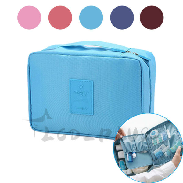 Multifunction Cosmetic Bag Makeup Case Pouch Toiletry Wash Organizer Travel Bag $5.93