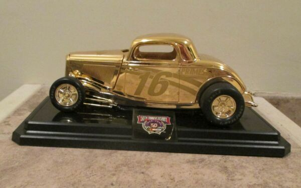 Racing Champions Nascar #16 Die Cast 24K Gold Plated 1:24 Stock Rods
