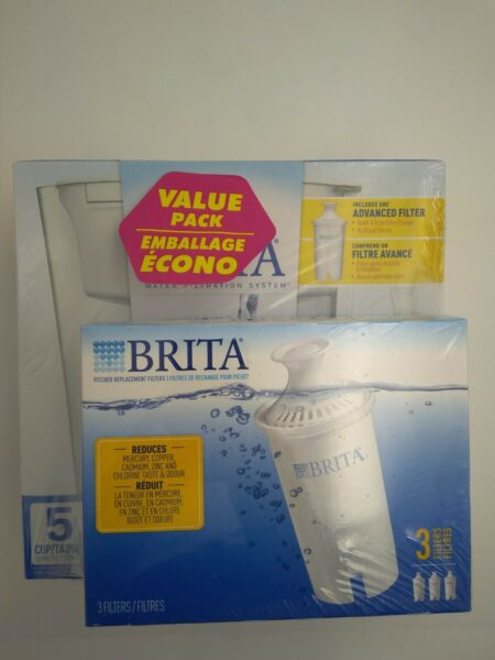 Brita Water Filtration System Brand White with additional 3 filters $20.00