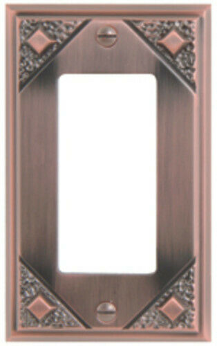 Atlas Homewares MSR Copper Craftsman Single Rocker Switch Plate