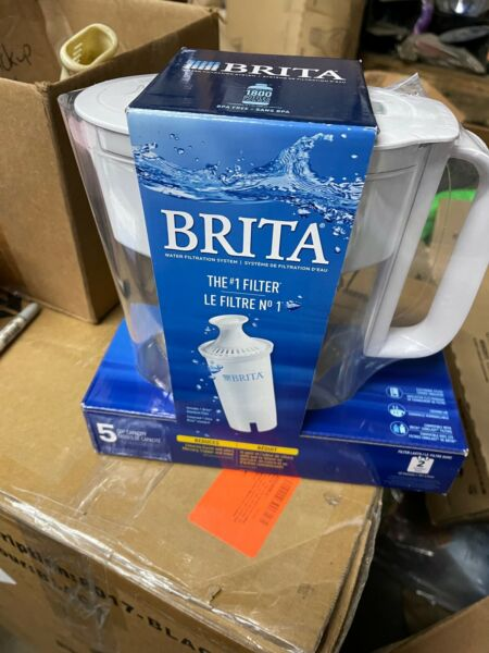 Brita Standard Metro Water Filter Pitcher Small 5 Cup 1 Count White