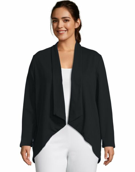 Women#x27;s Flyaway Cardigan French Terry Lightweight Just My Size Plus Sweater NWT $31.00
