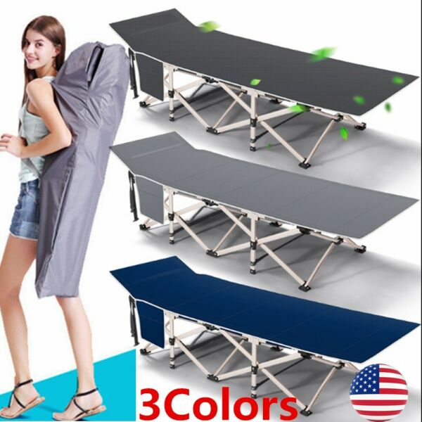Portable 26.4quot; W Military Cots Fold Up Bed Hiking Travel Camping with Free Bag