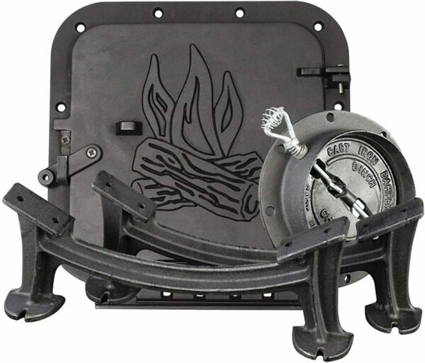BARREL CAMP STOVE KIT HEAVY DUTY FIREPLACE ACCESSORIES PARTS BLACK NEW