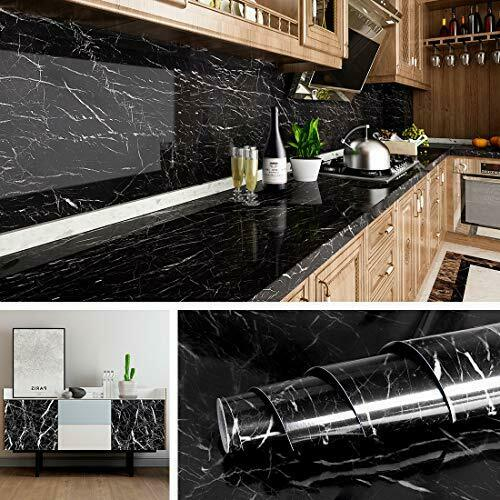 Marble Wall Paper Kitchen Counter Top Covers Peel amp; Stick Wallpaper 15.8x78.8quot;