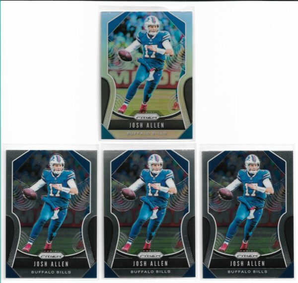 2019 Panini Prizm Josh Allen #3 Silver Base x3 Lot x 4 Mint Bills 2nd Year $124.99