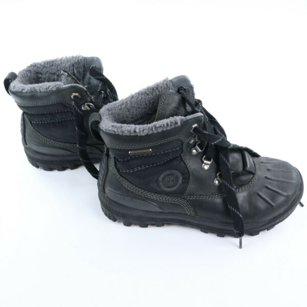 Timberland Winter Faux Fur Lined Boots Women#x27;s Size 8 Black Snow Boot $50.00