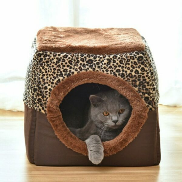 Brown Cat Kennel Pet Bed Nest Dog Bed Sofa Pet Products Dog Bed Cat Tree House $28.39