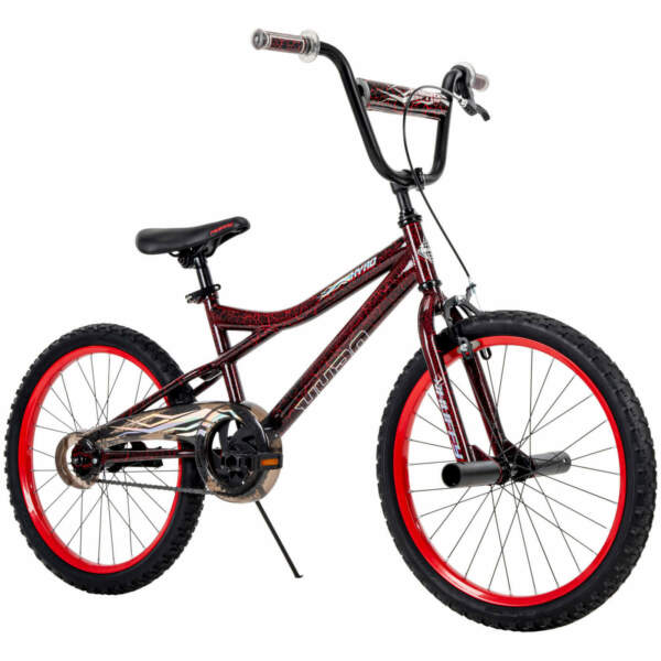 Huffy Kyro 20quot; BMX Style Boys Bike for Kids Red Black Crackle FREE US Shipping $114.07