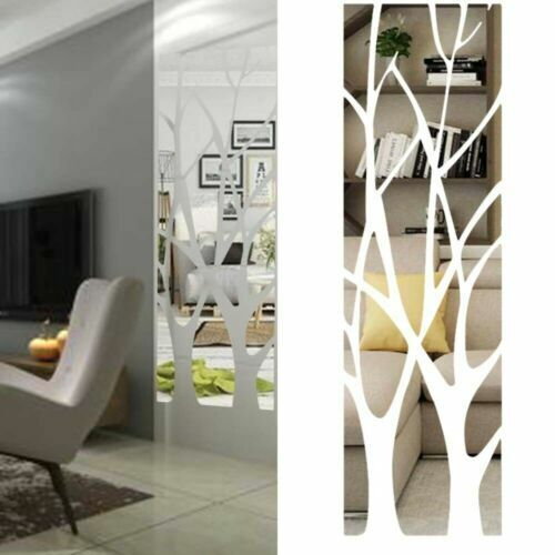 3D Mirror Tree Wall Sticker Acrylic Mural Decal Home Room DECO Easy Installation