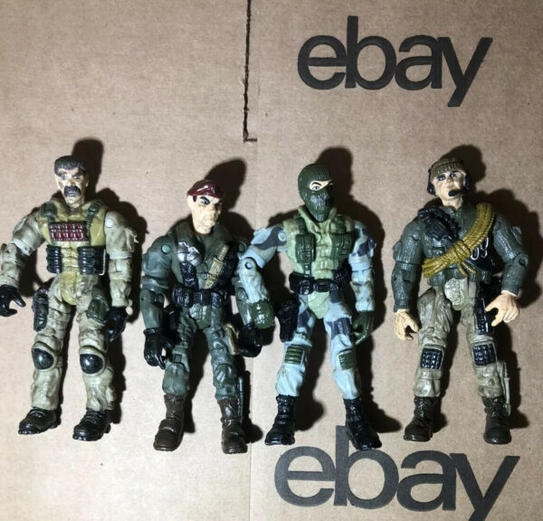 2003 Lanard Corps Action Figures Lot Of 4