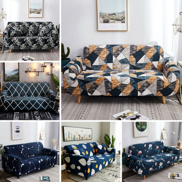 Printed Sofa Cover Stretch Couch Cushion Sofa Slipcovers for 1 2 3 4 Seater