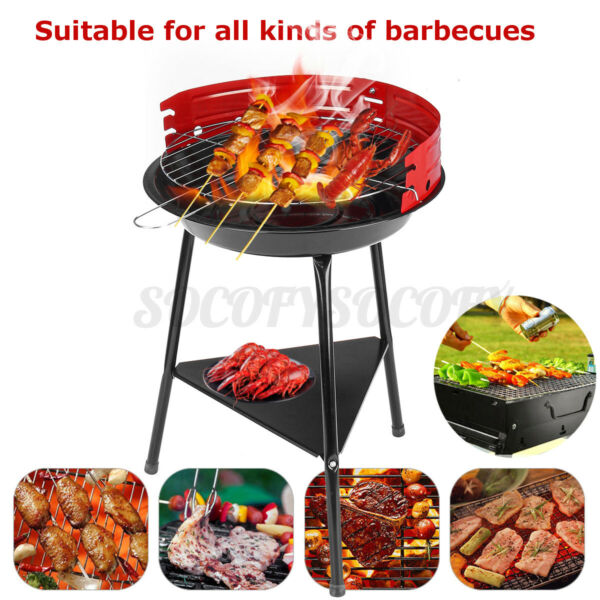 Outdoor BBQ Charcoal Grill Smoker Barbecue Pit Patio Backyard PicnicMeat Cooker