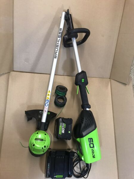 GreenWorks Cordless String Trimmer 60V With 2.0AH Battery And Charger – Genuine