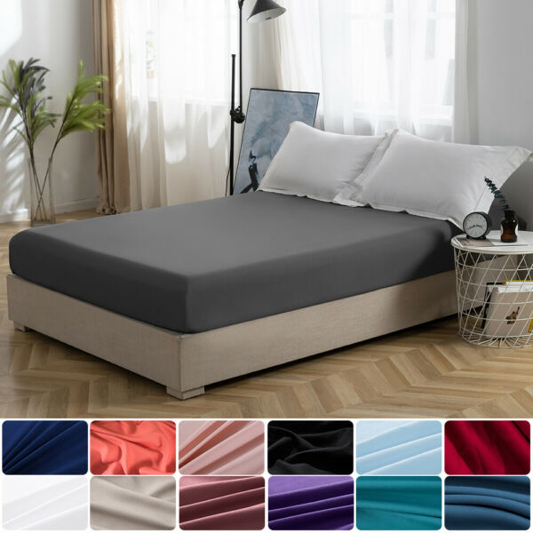 MOHA Queen SizeP Ultra Soft Fitted Sheet Extra Deep Bottom Sheets For Mattress $17.19