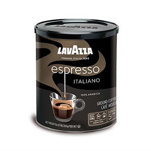 Lavazza Espresso Italiano Ground Coffee Blend Medium Roast 8 Ounce CansPack 4