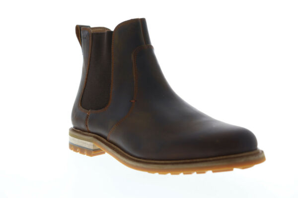 Clarks Foxwell Top 26148011 Mens Brown Leather Slip On Chelsea Boots