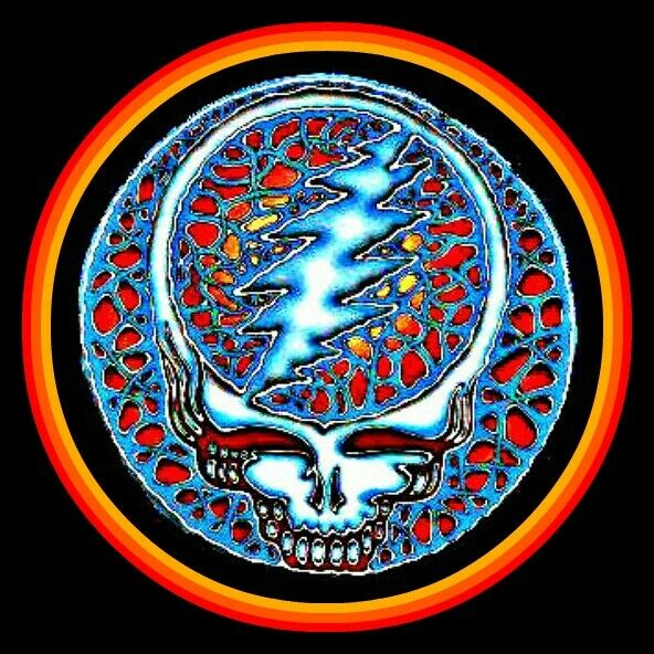 4quot; Grateful Dead Quicksiver Ember vinyl sticker. Steal Your Face decal for car.