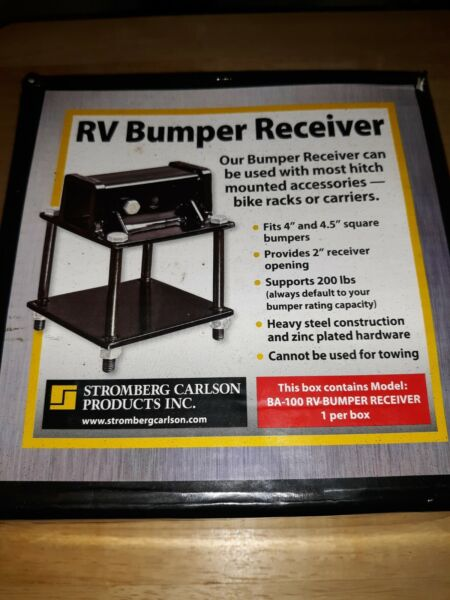 New Stromberg Carlson BA 100 RV Bumper Hitch Adapter Receiver Bike or Carrriers $42.95