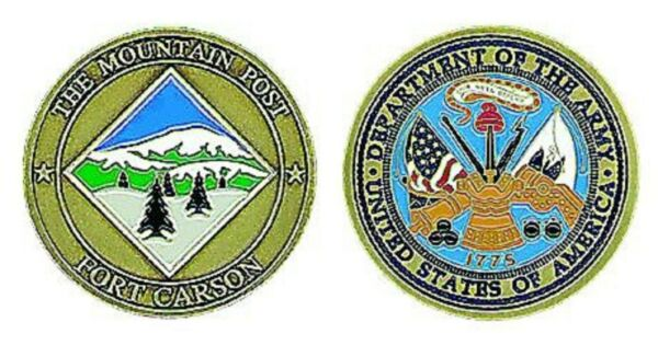 ARMY FORT CARSON THE MOUNTAIN POST CHALLENGE COIN $18.99