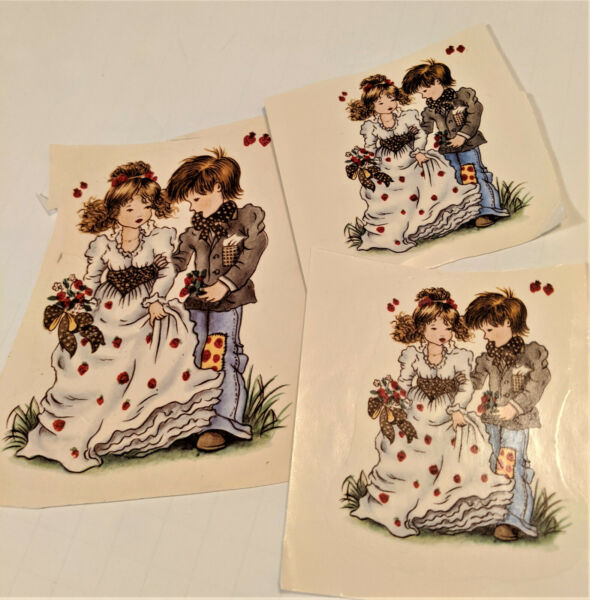 vintage Color Brite Water Mount Slide Ceramic Decals Prom Wedding Love Couple $1.50