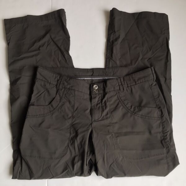 REI Pants Womens 10 Petite Gray Nylon Hiking Convertible Roll Up Outdoors Active $22.40