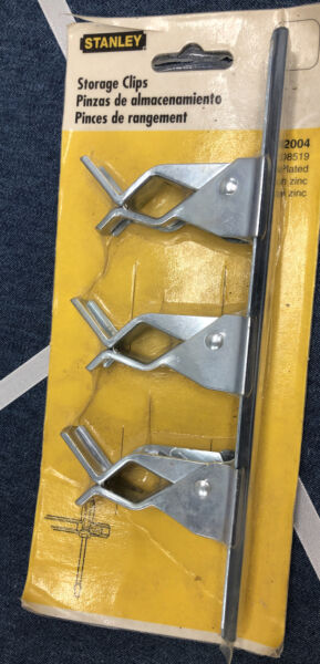 """Stanley 8"""" Tool Storage Clip For Small Tools In Shed Garage Workshop closet"""