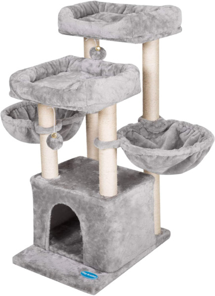 Hey brother 37.8 inches Medium Size Cat Tree for 3 Cats Use with Luxury Condo...