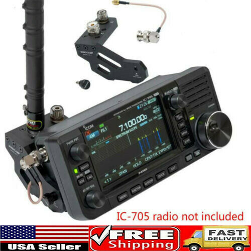 Portable Quick Release Antenna Bracket For ICOM IC 705 Portable Shortwave Radio