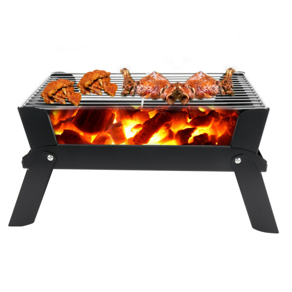 Portable Grill BBQ Foldable Charcoal Barbecue Grill for Outdoor Cooking Camping