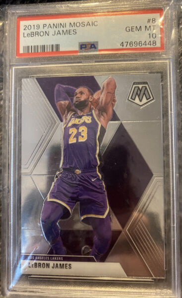 Fire 🔥Mystery Packs lebron James mosaic PSA 10 signature RC patch.