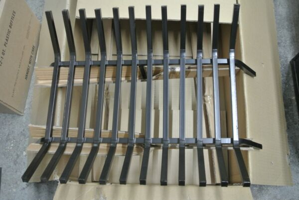 Fire Pit Grate 24quot; Tapered Iron Fireplace Grate G1