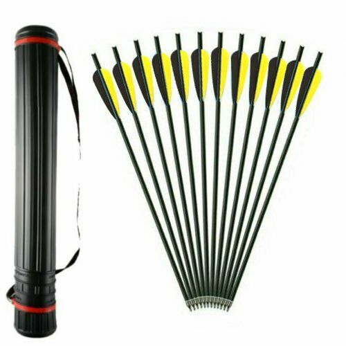 20 INCH Carbon Arrows 8.8mm Crossbow Bolts For Crossbow Hunting Archery Quiver $26.39