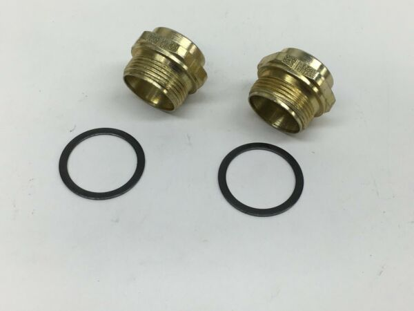 2 PACK HOLLEY CARBURETOR FUEL BOWL INLET FITTING 7 8quot; 20 FITS 3 8quot; LINE 26 26 $13.49