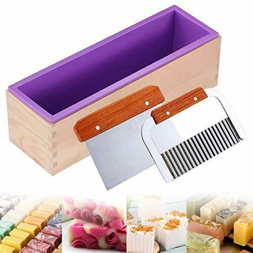 Ogrmar Silicone Soap Molds Kit 42 oz Wooden Silicone Soap Rectangular Mold