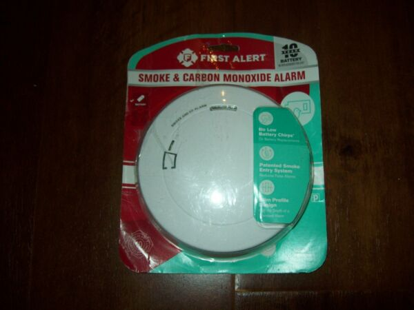 Combination Photoelectric Smoke and Carbon Monoxide Alarm with 10 Year Battery $12.00