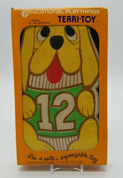 VTG Educational Playthings Terri Toy Dog Foam Filled Squeeze Doll NOS 1970#x27;s $29.88