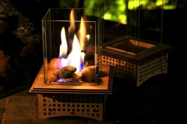 Glass Fireplace Tabletop Gifts for all. Warm up patio with Table top $30.00